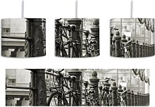 BMX Bike 1-Light Drum Pendant East Urban Home