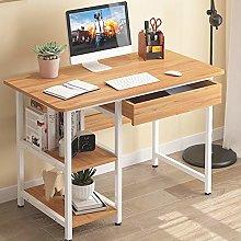 BNMKL Simple Computer Desk, Desk with Shelves &