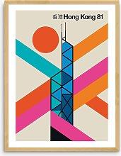 Bo Lundberg - 'Hong Kong 81' Framed Print,