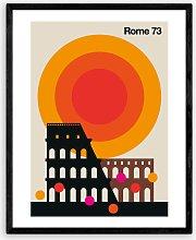 Bo Lundberg - 'Rome 73' Italy Framed