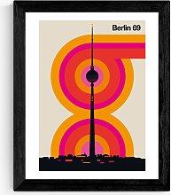 Bo Lundberg - Berlin Wood Framed Print, 52 x 42cm,