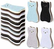 Boao 8 Pieces Cat Shape Kitchen Sponge Set Sink