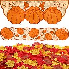 Boao Fireplace Scarf 20 x 60 Inch Lace Pumpkin