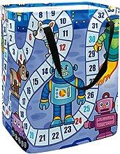 Board Desk Game Blue Laundry Basket Large Cloth