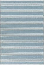Boardwalk Indoor/Outdoor Blue Patterned Rug -