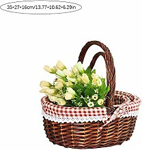boastvi Wicker Picnic Hamper Shopping Storage