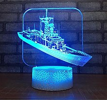 Boat 3D Colorful Creative Lamp Bedroom Bedside