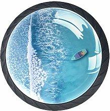 Boat Blue Ocean Crystal Drawer Handles Furniture