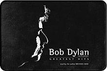 Bob Dylan Doormat Bath Kitchen Rug,Non-slip and