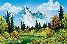 Bob Ross Meadow Lake Canvas Art Print Painting