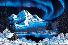 Bob Ross Northern Lights Canvas Art Print Painting