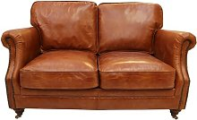 Bobby Leather 2 Seater Loveseat Williston Forge