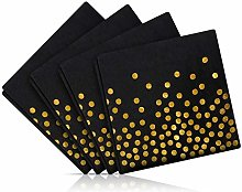 Bocotoer Black and Gold Party Supplies Disposable