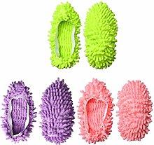 Bocotoer Floor Cleaning Shoe Covers Dust Mop