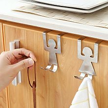Bodhi2000 2Pcs Stainless Steel Lovers Shaped Hook