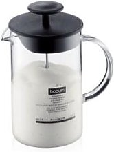 Bodum - 0.25L Black Latteo Milk Frother with Glass