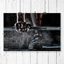 Body Building Fitness Weights Graphic Art East