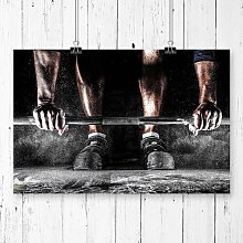 Body Building Fitness Weights Photographic Print