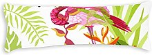 Body Pillow Cover 150x50 Zippered Tropical Plant