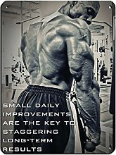 Bodybuilding Inspirational Quote Poster Small