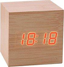 BOENTA Clocks For Bedrooms Travel Clock Wooden