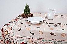 Boheme BABAD Tablecloth, 100% Cotton, Beige, 160 x