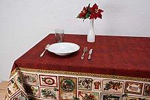 Boheme Nappa Christmas Tablecloth, 100% Cotton,