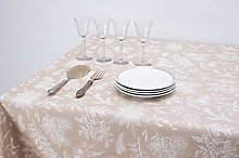 Boheme Viscum Christmas Tablecloth 140 x 250 beige