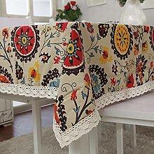 Bohemia Floral Tablecloth Sun Flower Printing
