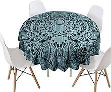 Bohemia Round Tablecloth for Circular Table,