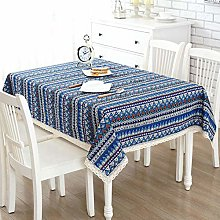 Bohemian style cotton and linen tablecloth coffee