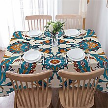 Bohemian Style Print Decorative Linen Tablecloth