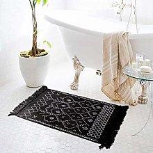Boho Area Rug for Living Room, Soft Cotton Vintage