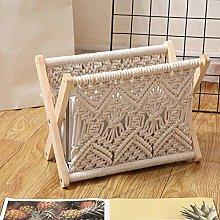 Boho Macrame Magazine Rack,Decorative Magazines