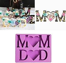 Boji Silicone Moulds Epoxy Resin MOM DAD Letter