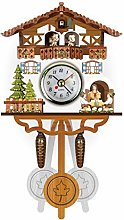 Boji Wall Clock, Antique Wooden Cuckoo Wall Clock,