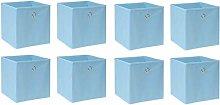 BOJU 8 PCS Foldable Storage Cubes Boxes Blue for