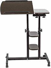 BOJU Black Mobile Laptop PC Table Desk Stand Wood