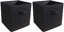 BOJU Black Unit Storage Box Cube Wardrobe Storage