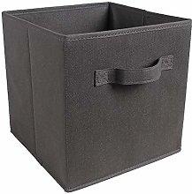 BOJU Dark Grey 8pcs Storage Box Cube for Wardrobe