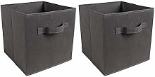 BOJU Dark Grey Storage Box Cube Pack of 10