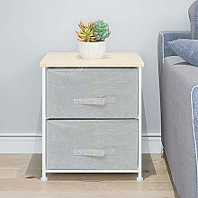 BOJU Grey Bed Night Stand Beside Table for Narrow