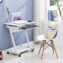 BOJU Mobile Z Shaped Computer Desk Table for Small
