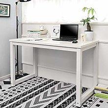 BOJU Modern White Computer Desk Table for Office