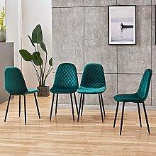 BOJU Occasional Green Velvet Dining Chairs Set of