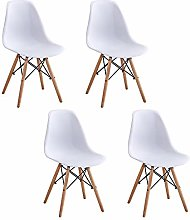 BOJU Retro White Kitchen Chairs Set of 4 for