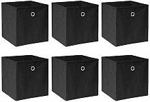 BOJU Set of 6 Folding Unit Storage Organizer Cubes