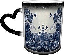 Bokueay Funny Art Mugs Classic Delft Blue Ceramic