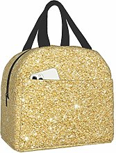 Bokueay Gold Frosted Background Portable Lunch Bag