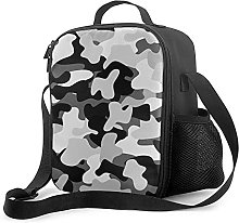 Bokueay Insulated Lunch Box,Gray Camouflage Cooler